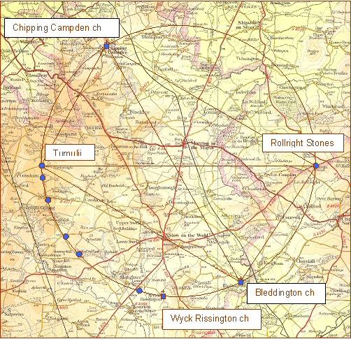 Ley Lines Colorado Map.The Cotswold Circular Ley
